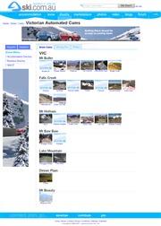オーストラリアのライブカメラ:メルボルン北東にあるオーストリアンアルプスのスキー場のゲレンデとその周辺の景色