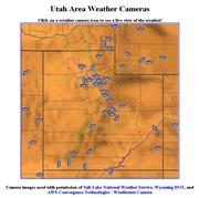 アメリカ合衆国 ユタ州のライブカメラ:ソルトレイクシティ南方周辺各地の景色