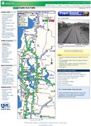 アメリカ合衆国 ワシントン州のライブカメラ:シアトル近郊の主要幹線道路の映像と交通情報