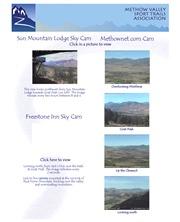 アメリカ合衆国 ワシントン州のライブカメラ:サン・マウンテン・ロッジから見た北カスケード山脈東斜面の景色