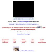 アメリカ合衆国 ノースカロライナ州のライブカメラ:ブロックエイド・ランナー・ビーチ・リゾートから見たライツビルの海岸の景色