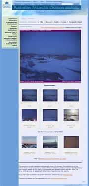 南極のライブカメラ:オーストラリア南極探検隊の各基地からのライブ画像