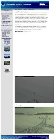 南極のライブカメラ:南極にある米国気象観測基地(US weather station)の様子