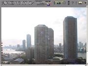 東京都のライブカメラ:中央区佃,「大川端リバーシティ21」にある高層マンションからの眺望