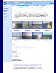 アメリカ合衆国 ミシガン州のライブカメラ:ミシガン湖東岸,マスキーゴンから見たミシガン湖とマスキーゴン湖の灯台のある景色
