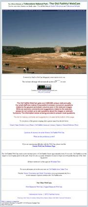 アメリカ合衆国 ワイオミング州のライブカメラ:「イエローストーン国立公園」にあるオールドフェイスフルの間欠泉の今の様子