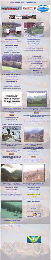 フランスのライブカメラ:スイス,レマン湖南方近郊にあるアボンダンスの景色