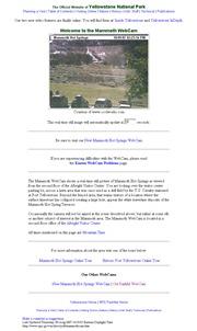 アメリカ合衆国 ワイオミング州のライブカメラ:「イエローストーン国立公園」の有名なマンモス・ホット・スプリングスのある景色