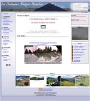 フランスのライブカメラ:フランス東部モンブラン南西近郊,レ・コンタミーナのスキー場各地の様子