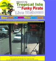 アメリカ合衆国 ルイジアナ州のライブカメラ:「Tropical Isle」によるニューオーリンズのバーボンストリートの今の様子