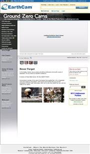 アメリカ合衆国 ニューヨーク州のライブカメラ:マンハッタンにあった世界貿易センタービルの跡地の今の様子