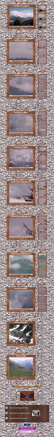 フランスのライブカメラ:フランス南東,アルプスの麓にあるル・ブール・ドワザン(標高770m)から見たアルプスの山々の景色