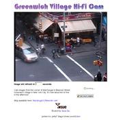 アメリカ合衆国 ニューヨーク州のライブカメラ:グリニッチ・ビレッジのマクドゥガル通りとブリーカー通りの交差点の街角の今の様子