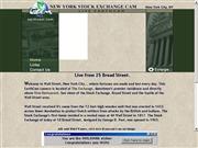 アメリカ合衆国 ニューヨーク州のライブカメラ:ウォール街の証券取引所前の今の様子
