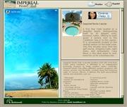 メキシコのライブカメラ:リゾート地,カンクンにあるホテル「Imperial Fiesta Club」のビーチ,プールサイド,ロビーの今の様子