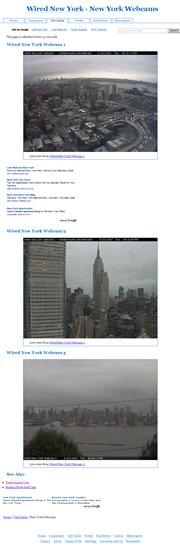 アメリカ合衆国 ニューヨーク州のライブカメラ:マンハッタンのミッドタウンウエスト,「ワールドワイドプラザ」31階から見たハドソン川のある街の景色