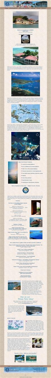 ヴァージン諸島のライブカメラ:英国領ヴァージン諸島,ヴァージン・ゴルダ島の沖合いにあるリゾート施設「Saba Rock」と海の景色