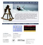 アメリカ合衆国 オレゴン州のライブカメラ:州西部,太平洋沿岸,アストリアにある「コロンビア川海洋博物館」から見たコロンビア川の河口周辺の今の様子