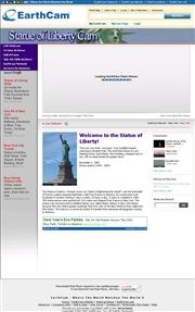 アメリカ合衆国 ニューヨーク州のライブカメラ:ブルックリンから見た今の「自由の女神」の様子
