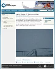 南極のライブカメラ:南極大陸への湾入部,ウエッデル海の沿岸にある「英国南極調査局」の「ハリー研究基地」からのライブ画像