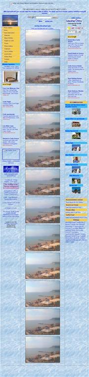 ギリシャのライブカメラ:アルバニア対岸,イオニア諸島,ケルキラ(コルフ)島の北西部の今の景色