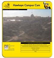 アメリカ合衆国 アイオワ州のライブカメラ:アイオワシティのダウンタウンにある「アイオワ大学」のメインキャンパスの今の様子