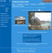 タヒチのライブカメラ:ボラボラ島,モーレア島,タハア島,そして,マニヒ島のビーチリゾートの今の様子