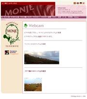 スペイン領カナリア諸島のライブカメラ:テネリフェ島,エル・サウサルのラ・オジェラ地区,ワイナリー「モンヘ」のぶどう畑から見たスペイン最高峰(3718m)のテイデ山の今の景色