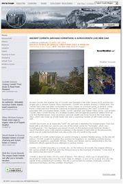 ギリシャのライブカメラ:古代コリントスのアポロ神殿跡の今の様子