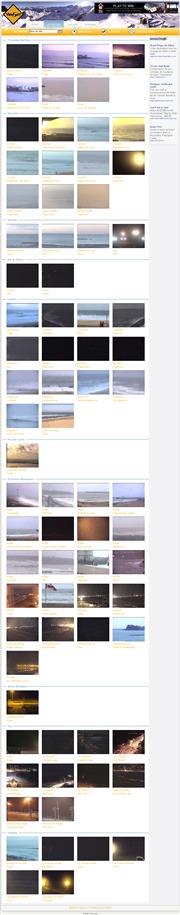 フランスのライブカメラ:フランス国内,ブルターニュ地方と地中海岸のビーチ(リゾート地)の今の様子