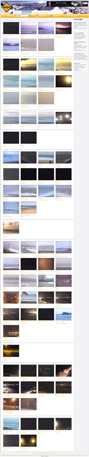 フランスのライブカメラ:フランス国内,ノルマンディー地方北部とヴァンデ県とシャラント県のビーチ(リゾート地)の今の様子