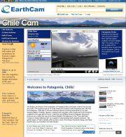チリのライブカメラ:チリ南部,パタゴニアの氷河とフィヨルドの今の風景