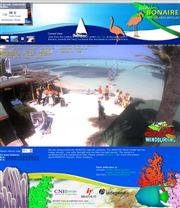 オランダ領ボネール島のライブカメラ:ボネール島東海岸,ウィンドサーフセンター「ジャイブ・シティ」から見たビーチの今の様子