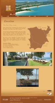 タイのライブカメラ:サムイ島北東岸,チャウエンにあるリゾートホテル「ブリラサヴィレッジ」のプールサイドとビーチの今の様子