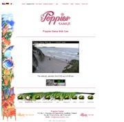 タイのライブカメラ:サムイ島北東岸,チャウエンにあるリゾートホテル「ポピーズサムイ」から見たチャウエン・ビーチの今の景色