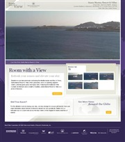 ギリシャのライブカメラ:エーゲ海に浮かぶミコノス島のリゾート,「サンタ・マリーナ・リゾート&ヴィラ」から見たオルノス湾の今の景色