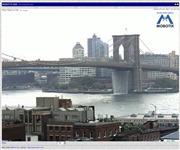 アメリカ合衆国 ニューヨーク州のライブカメラ:マンハッタンとブルックリンを結ぶブルックリン橋とイースト川の今の様子
