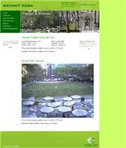 アメリカ合衆国 ニューヨーク州のライブカメラ:マンハッタンのミッドタウンにある有名なブライアント・パークの今の様子