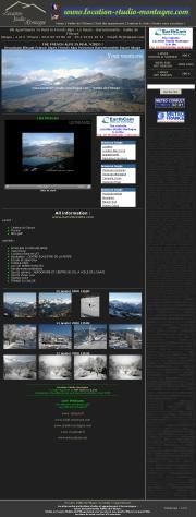 フランスのライブカメラ:フランス南東部,イタリア国境近く,ユバイユ峡谷から見たフランス・アルプスの今の景色