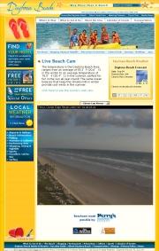 アメリカ合衆国 フロリダ州のライブカメラ:フロリダ半島東岸,有名なリゾート地,デイトナビーチの今の海辺の様子