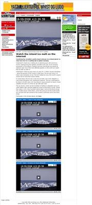 デンマーク領グリーンランドのライブカメラ:イルリサット氷河の今の様子