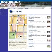 カナダ オンタリオ州のライブカメラ:トロント近郊,ブランプトンのダウンタウンの今の様子