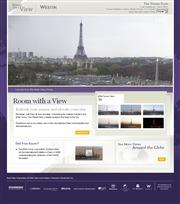 フランスのライブカメラ:首都パリの「ホテル・ウェスティン・パリ」から見たエッフェル塔とその周辺の街の今の様子