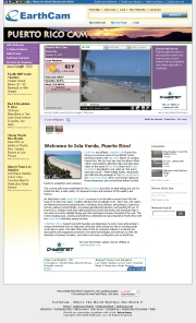 プエルトリコのライブカメラ:首都サン・フアンにあるイスラベルデとオーシャンパークのビーチの今の様子